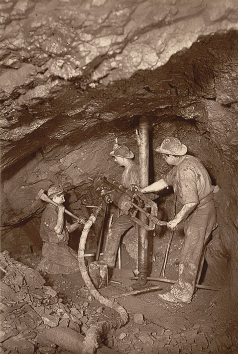 A Rock-Drill End, East Pool Mine